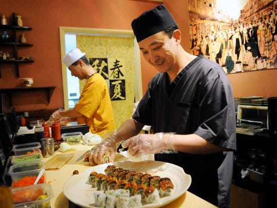 Kissho Sushi has affordable sushi and a great atmosphere.