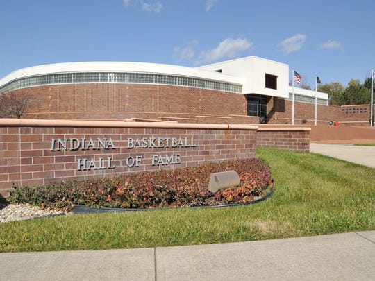 FILE -- New Castle's Kyle Huckeby and Yorktown's Paul Cox were honored by the Indiana Basketball Hall of Fame Tuesday, Dec. 10, 2019.