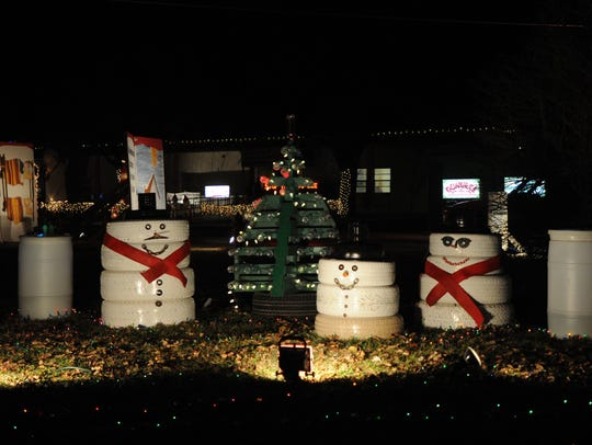 Christmas Lane decorations at the Abilene State Supported