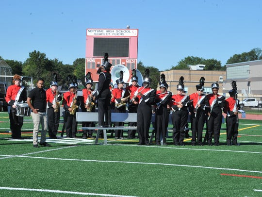 Entertainment was provided by Neptune High School Marching