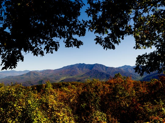 A view of the Smoky Mountains from Ober Gatlinburg in Gatlinburg, Tennessee, on Thursday, October 26, 2017.
