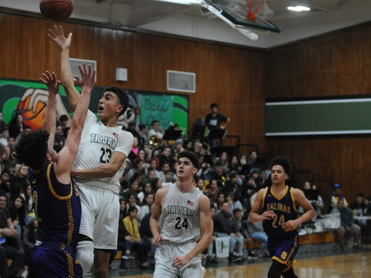 Alisal's boys' basketball team is one of 15 teams in the Salinas area to make it to the CCS playoffs. The fourth-seeded Trojans (22-2) have a bye until the quarterfinals for Division I boys' basketball.