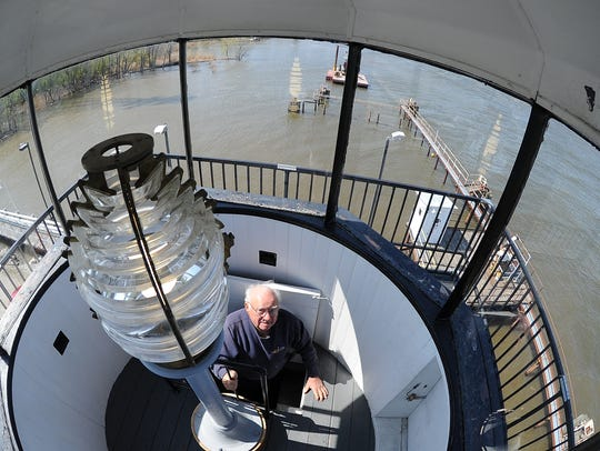 Merlin Baenen enters the lantern room of the south