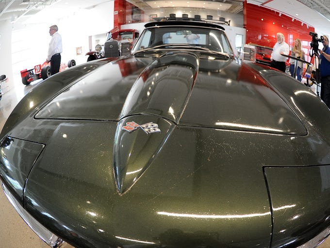 The interior of a 1967 Corvette Sting Ray awarded to