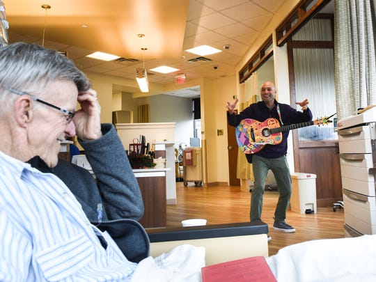 "Charlie Lustman, a singer and songwriter, turned his year-long journey through chemotherapy treatment into a musical called ""Made Me Nuclear."" On Tuesday, Dec. 13, 2016 his Musical HOPE Campaign Tour stopped at  WellSpan's Sechler Family Cancer Center in North Cornwall Township."