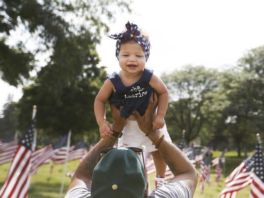 Oaklawn Memorial Gardens displays a Field of Flags until July 9, 2018