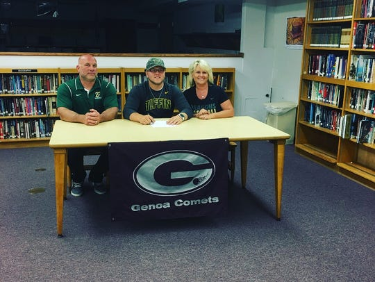 Genoa's Gabe Scott continues his baseball career at