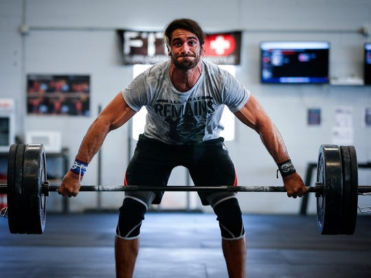 12:56PM: WWE Champion and Davenport native Seth Rollins gets in a workout.