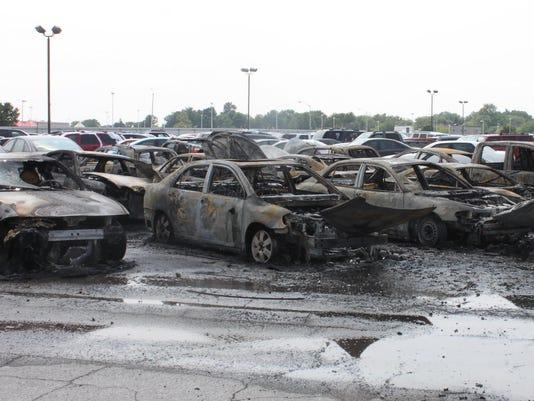 Car lot fire 1