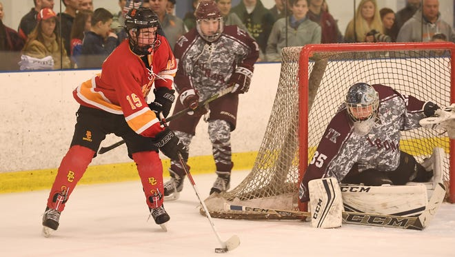 Don Bosco goalie Alexei Masanko (35) is a repeat selection to the All-North Jersey hockey first team.
