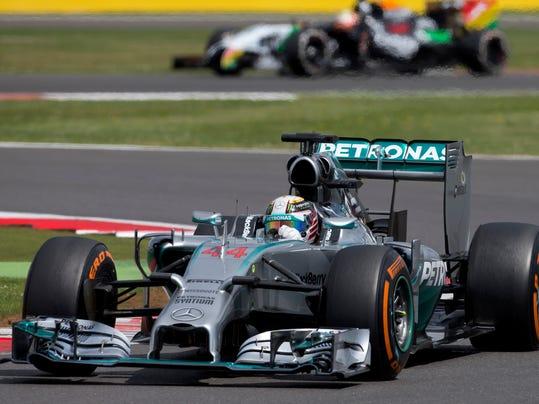 Britain F1 GP Auto Racing (2)