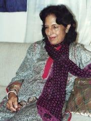 Register columnist Rekha Basu's mother, Rasil Basu, in a photo from the 1990s.