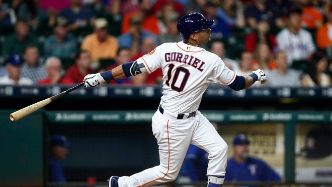 Cuban defector Yulieski Gurriel made his MLB debut on Aug. 21 at the age of 32. Since then, he's hit .307 with three homers and 13 RBI.