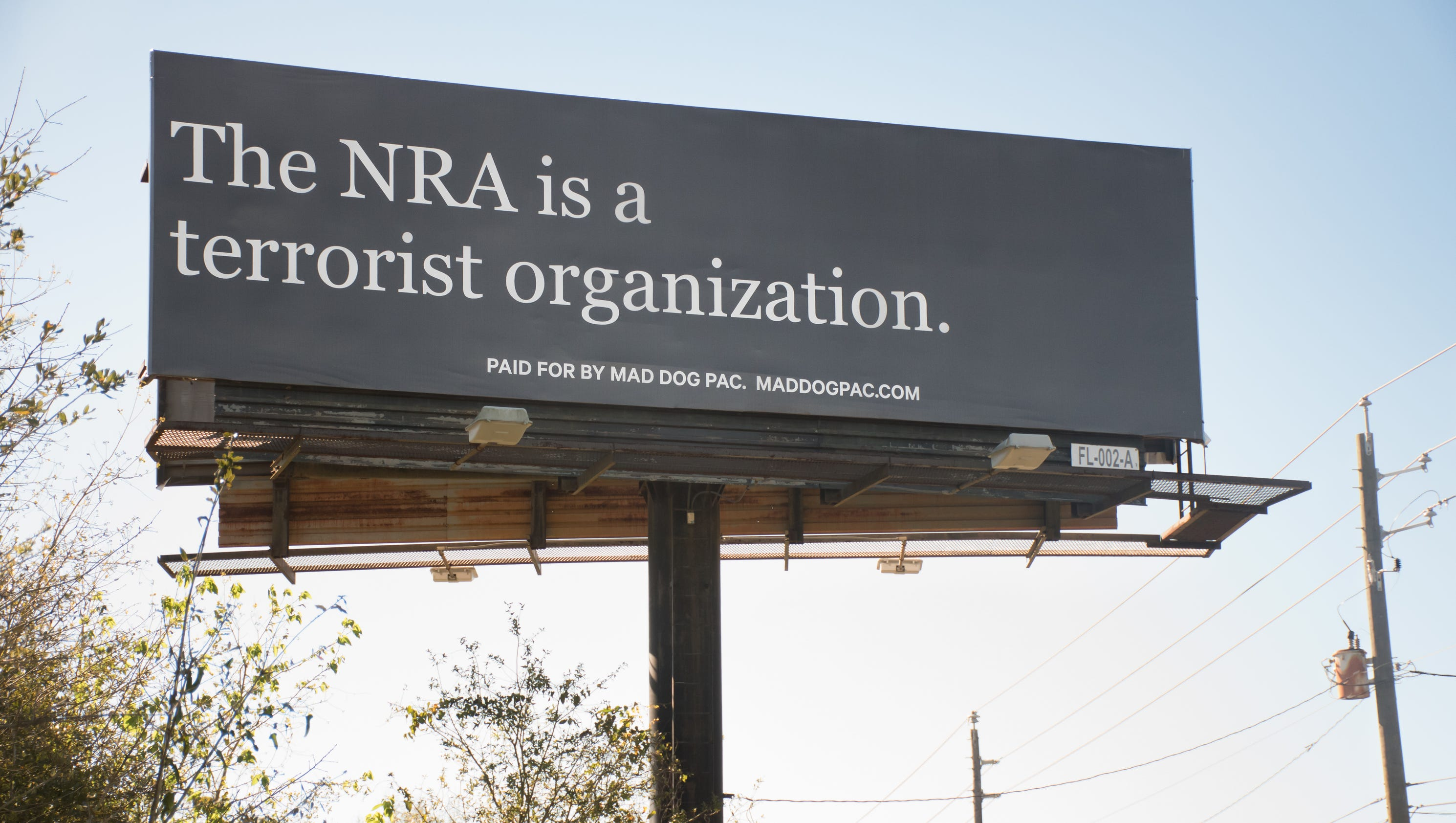 New billboard in pensacola refers to nra as terrorist organization stopboris Images