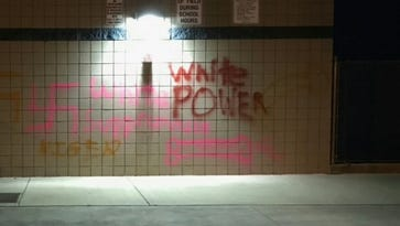 Phoenix police are investigating graffiti painted at Pinnacle High School.