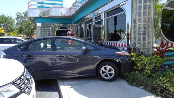 A Toyota Prius crashed into the Mel's Diner in Bonita Springs on May 4, 2017.