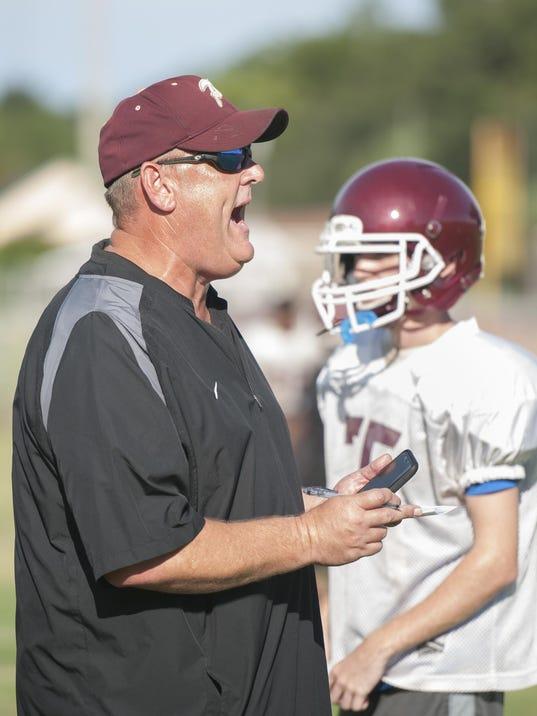 Pensacola High School football practice