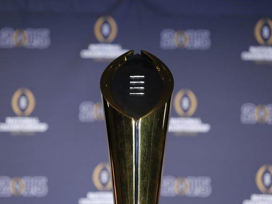 NCAA Football: Winning Head Coach and MVP-Press Conference
