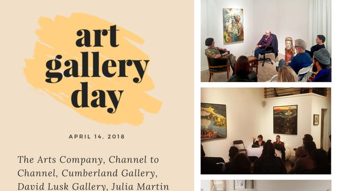 Art Gallery Day flyer.