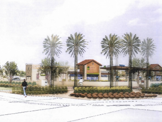A rendering of the Santan Crossing Plaza planned for