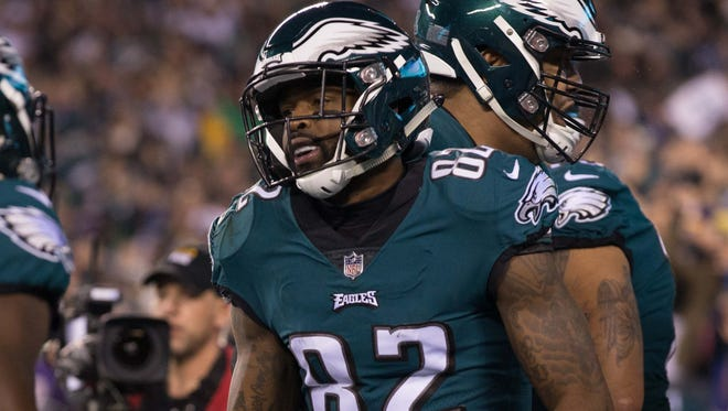 The Eagles' Torrey Smith has been critical of Donald Trump.