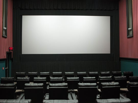 One of the new remodeled movie theaters at Telshor