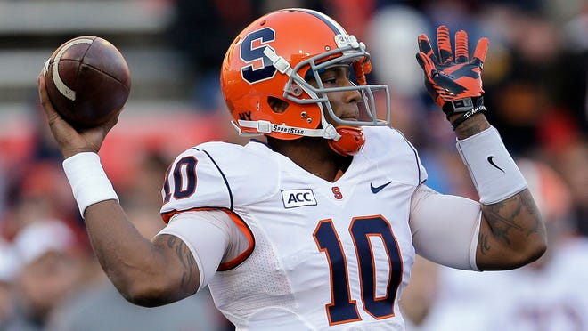 Quarterback Terrel Hunt has the size and arm strength to be a dual threat for Syracuse. But if he fails, it will likely doom Coach Scott Shafer.