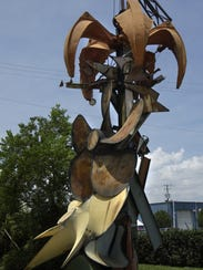 The metal sculpture in front of Southern Scrap Company