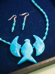 Pictured is an example of Steve Bailey's jewelry.