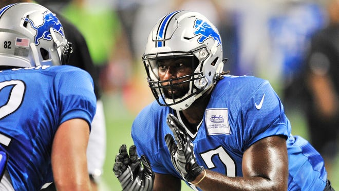 Detroit Lions tight end Brandon Pettigrew returned to practice on Tuesday, nearly 11 months after tearing his ACL