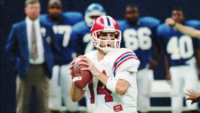 Evangel quarterback Phillip Deas (14).