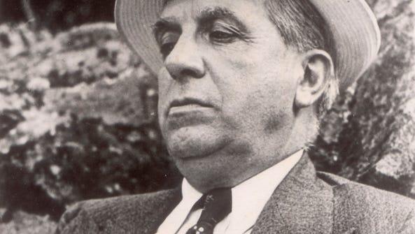 Charles Ponzi in 1935 in his home's garden in Rome.