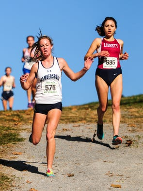 Chambersburg's Abby Yourkavitch, left, finished 10th