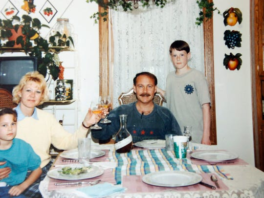 This early 1990s family photo shows Sonja St. John,