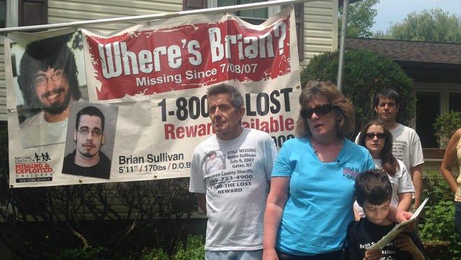Daniel Sullivan, left, and Barbara Sullivan announced their renewed efforts to find their son Brian Sullivan Wednesday.