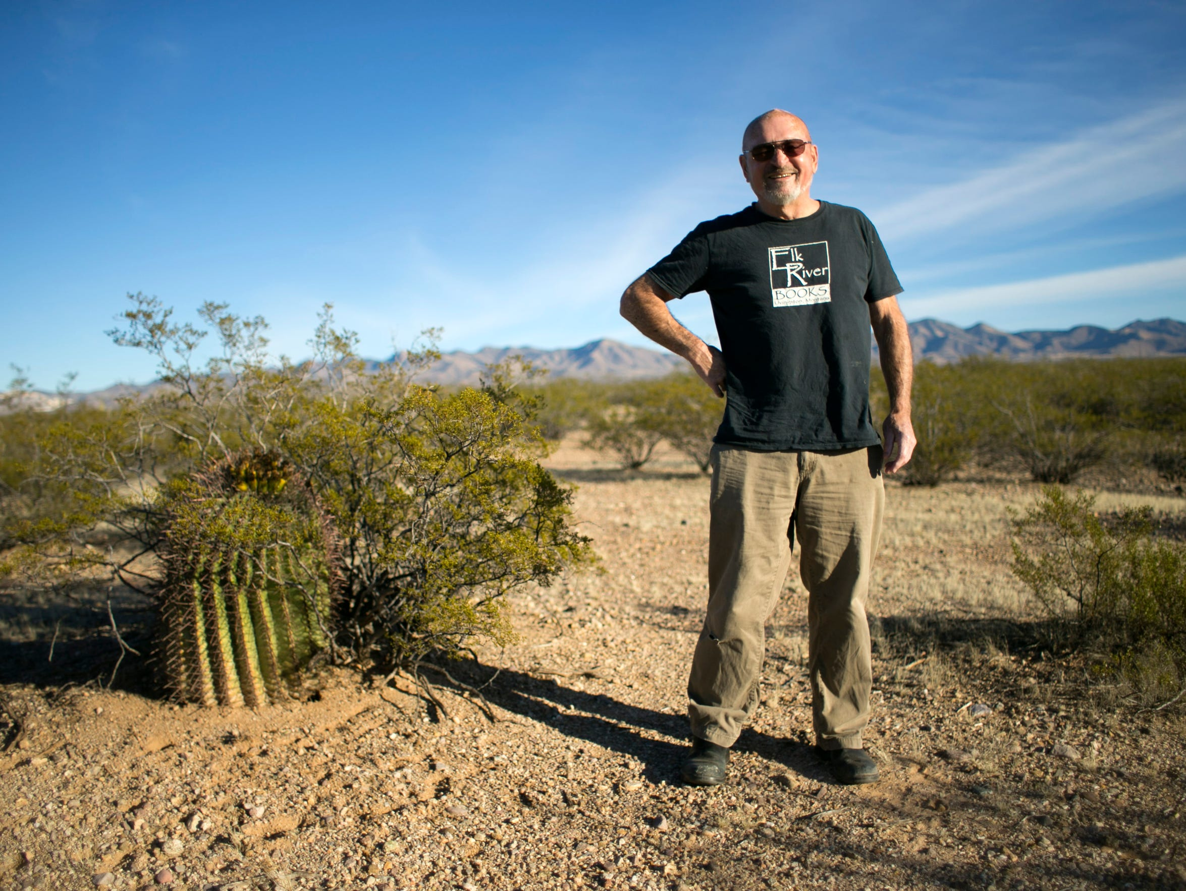 Doug Peacock who lives just outside of Tucson, is a