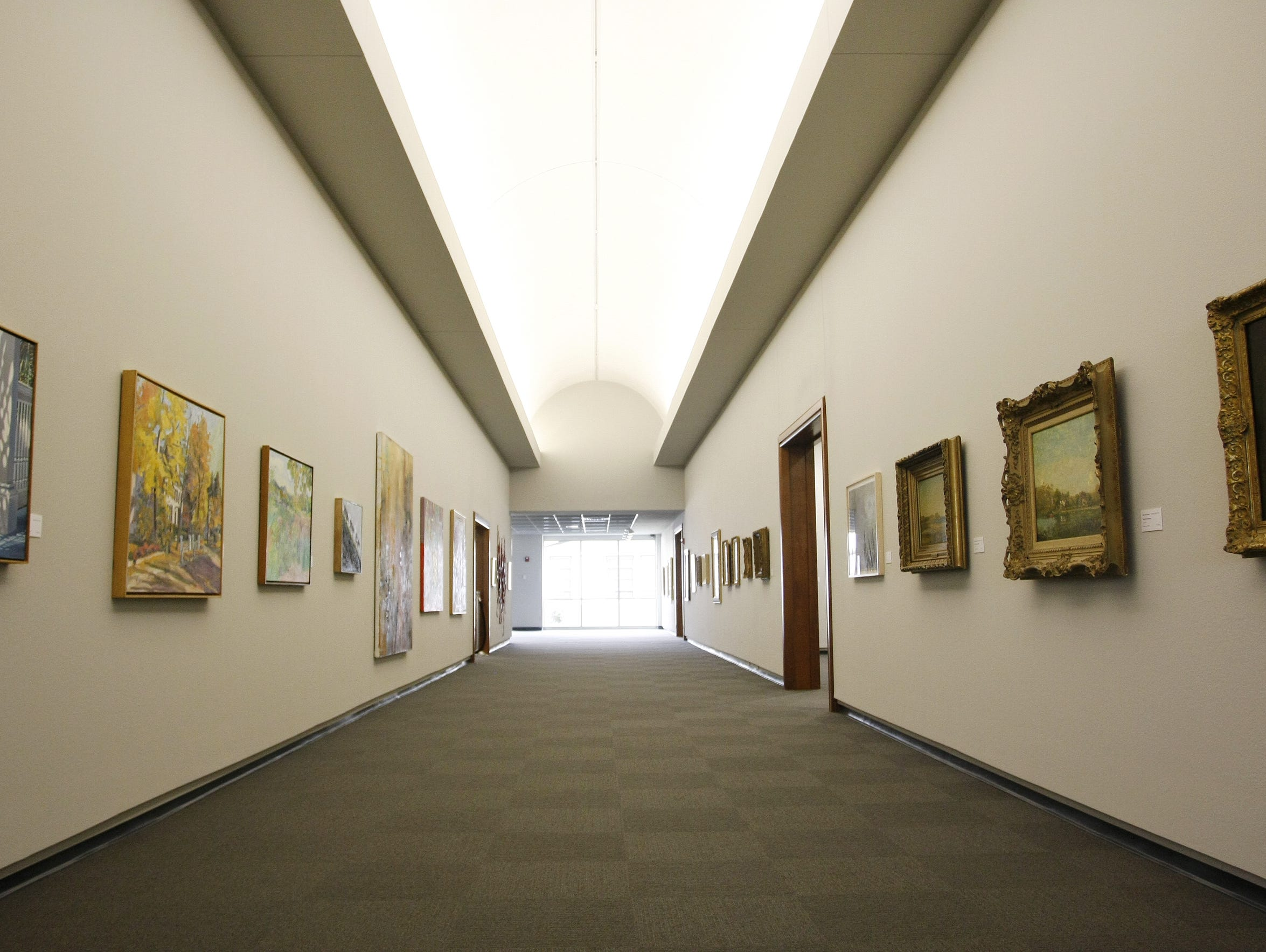 The Corridor Gallery in the 2008 addition to the Springfield