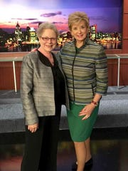 Kris Kelly of CBS 62 with Linda McMahon, administrator