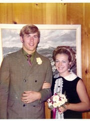 """Bruce Arians and his wife Christine during their high school years in York. The Arizona Cardinals head coach is known for his fashion sense, which dates to his days at York Catholic and William Penn high schools. His wife said when Arians was a senior, """"the freshmen girls thought he was a teacher because he wore three-piece suits."""""""