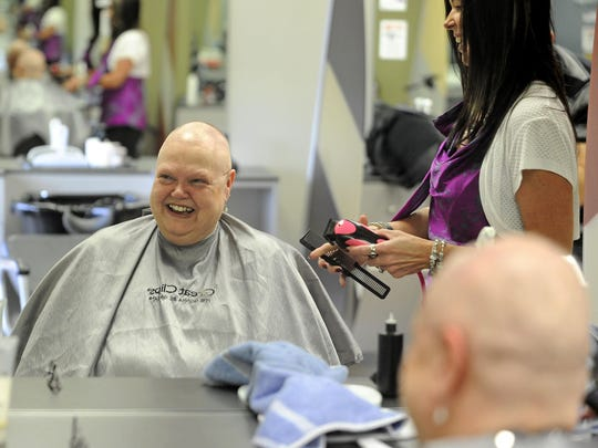 Brenda Wade Schmidt says she was treated like a special customer the day she had her head shaved at Great Clips on 41st Street in Sioux Falls.