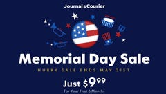 Lafayette Journal & Courier offering Memorial Day sale for new subscribers