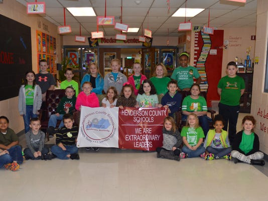 East Heights Elementary February leaders of the month