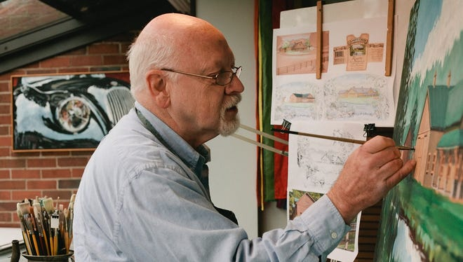 Harry Whitver in his studio.