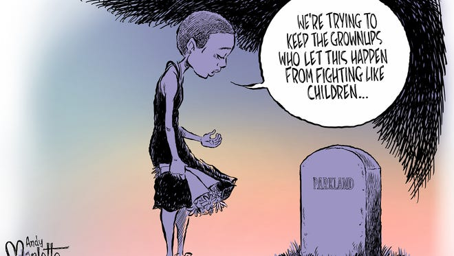 Parkland students in mourning commentary from Andy Marlette