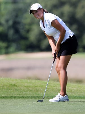 Siegel senior Melissa Kiker shoots during the Murfreesboro Invitational at Champions Run Golf Course. The course will be the site of a golf scramble on Saturday to benefit wounded warriors.