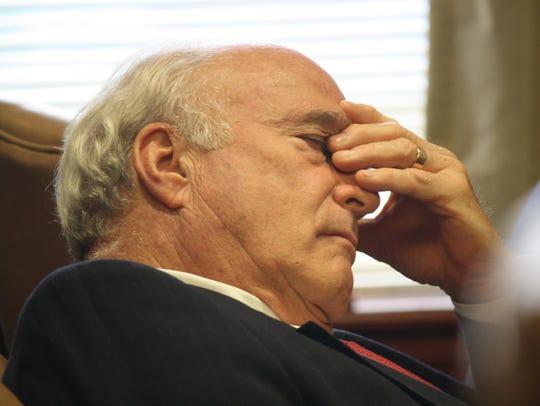 Butler County Prosecutor Mike Gmoser listens to defense