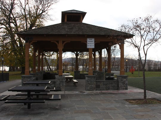 The pavilion in Barnhart Park in Sleepy Hollow's where  Tahj Robinson was fatally stabbed on Oct. 9, 2015.