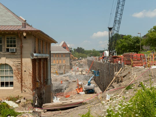 The Klarman Hall construction site in late July of