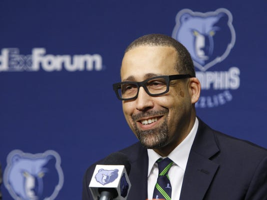 Grizzlies Fizdale Basketball (2)