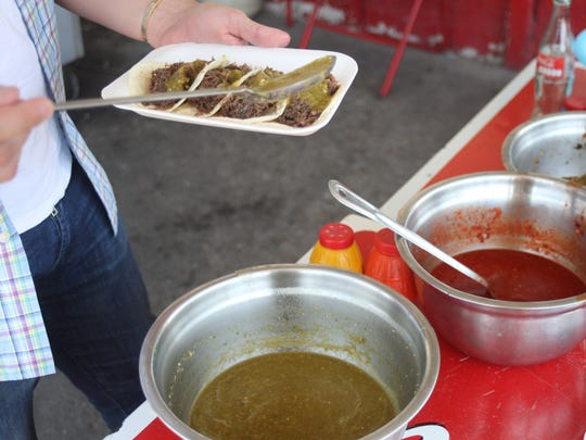 A variety of salsas at El Saguaro restaurant are available